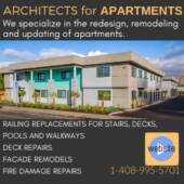 Ad for Edwin Bruce Associates, Architects AIA dba Architects for Apartments
