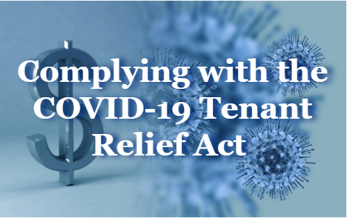 Complying with the COVID-19 Tenant Relief Act. Background image virus-money-coronavirus-covid-19